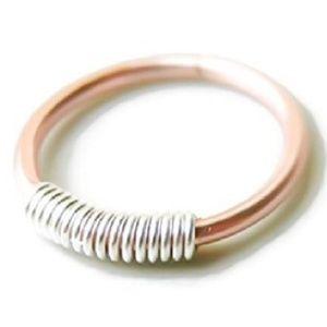 14k/925 Pink Gold/Sterling Nose Ring